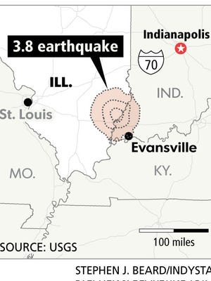 The epicenter of Tuesday's earthquake