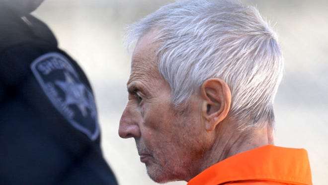 Robert Durst after his arraignment in New Orleans on March 17.