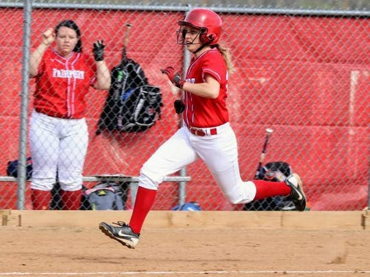 Fairport center fielder Maddy Sehnert smacked a game-tying, two-run home run in the seventh inning during the Raiders' spring trip to Orlando.