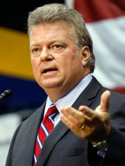 Attorney General Jim Hood address attendees of the