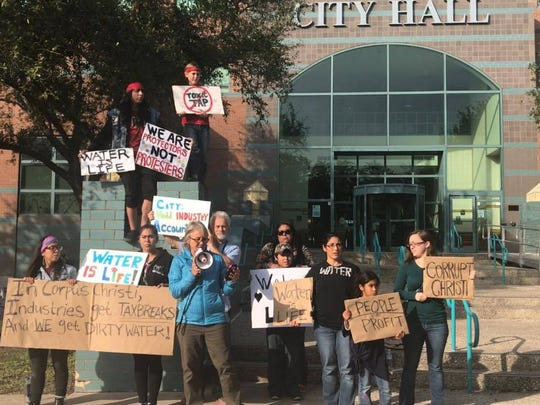 Corpus Christi residents demanded answers from city leaders at news conferences and outside City Hall on Thursday.