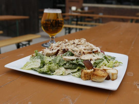 The roasted rosemary chicken salad at Exile Brewing Co. in Des Moines.