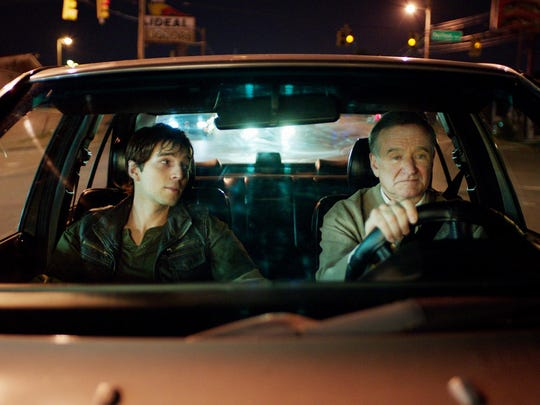 """Roberto Aguire, left, with Robin Williams in """"Boulevard,"""""""