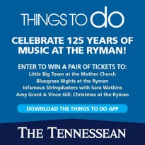 Download Things to Do Nashville for a chance to win tickets to the Ryman