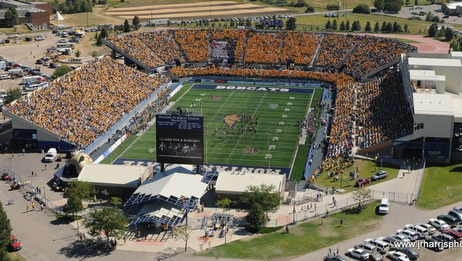 Montana State plays its football games at Bobcat Stadium, a venue that holds 20,000 people.