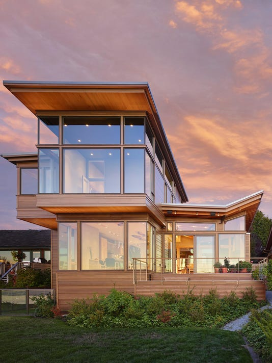 Technology and craftsmanship go together in stunning home overlooking Elliot Bay