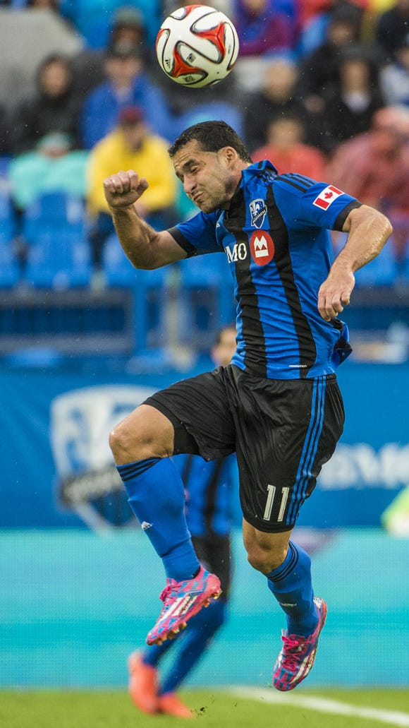 Dilly Duka of Montville, shown against Chicago, scored his first goal of the season on Saturday night. Photo courtesy Montreal Impact