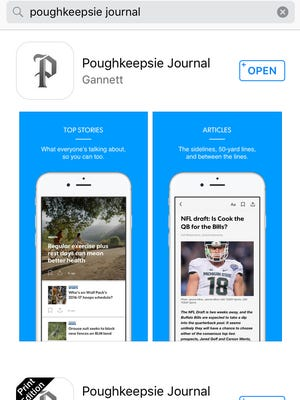 The new Poughkeepsie Journal app as seen in the iTunes store.