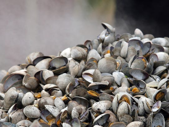 A traditional clambake was part of a celebration Thursday