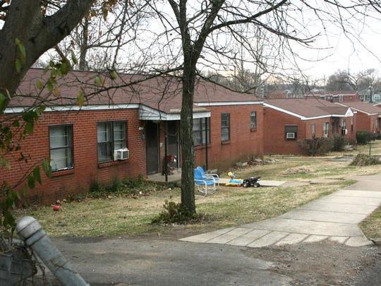Public housing on Strahl Street in Franklin in 2010.