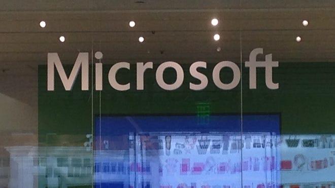 The Microsoft store in Palo Alto, Calif.