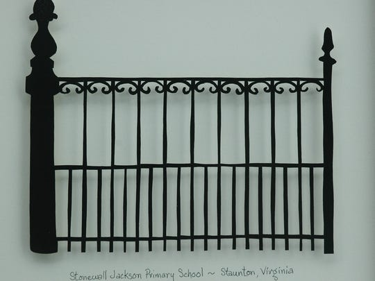 Papercutting of Stonewall Jackson Primary School in