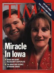 Bobbi and Kenny McCaughey, the parents of septuplets,
