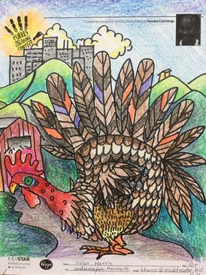"""Helen Harris of Mooresville won the 13-and-up division with her """"country/city turkey."""""""