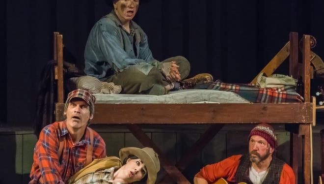 "Jeffrey Herbst, Molly Rhode, Doug Mancheski and Fred 'Doc' Heide, from left, in a scene from a 2016 production of the Northern Sky Theater musical comedy ""Lumberjacks in Love."" The classic hit returns for Northern Sky's 2018 summer season with a singalong twist, joined by two world premiere musicals."