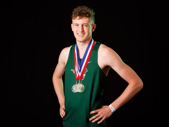 Jacob Miller, a West Salem senior, is nominated for boys track and field player of the year for the Statesman Journal Mid-Valley Sports Awards. Photographed at the Statesman Journal in Salem on Tuesday, May 15, 2018.