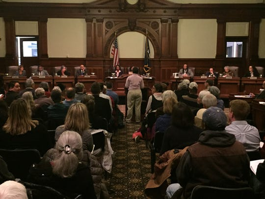 A dozen people signed up to speak to City Council on Tuesday night about the sancutary city resolution, and other supporters filled the chamber.