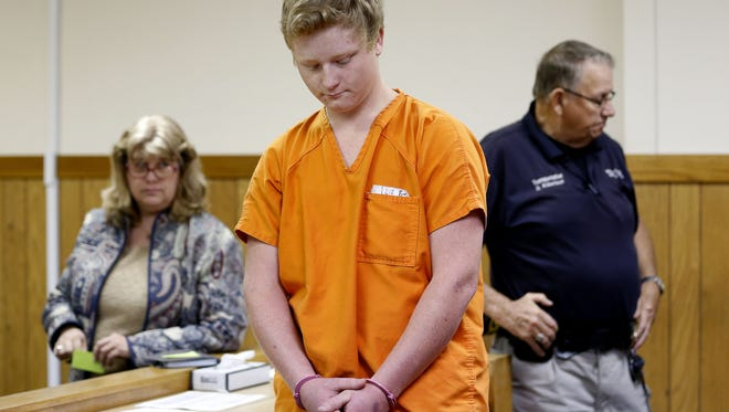 Joshua Applegate at a 2016 court appearance.