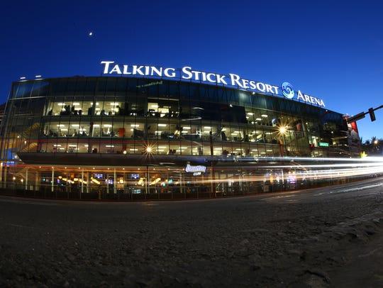 Talking Stick Resort Arena, home of the Phoenix Suns, on Dec. 13 in Phoenix.