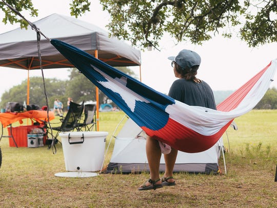 Proceeds from sales of this Texas Flag Hammock go to Hurricane Harvey relief.
