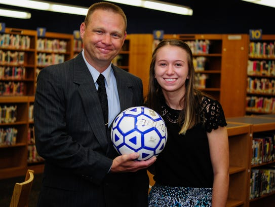 Student Sierra Geibe, right, with Mentor Jeffrey Snyder