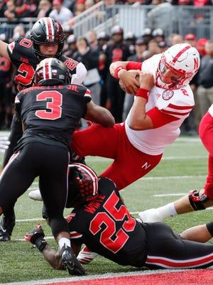 Nebraska freshman dual-threat QB Adrian Martinez is the key to the Huskers' offense.