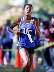 Union Catholic's Jerika Lufrano finished second in