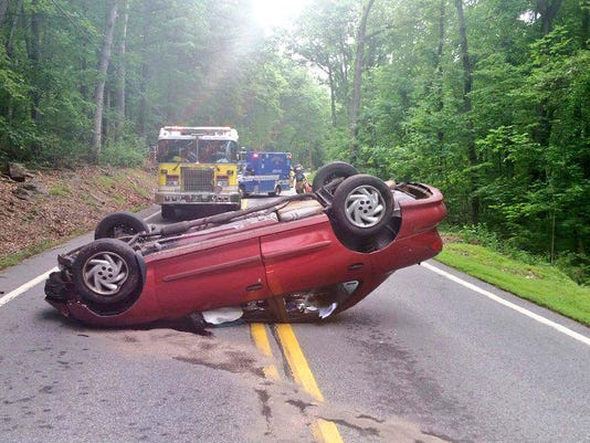 Police reported there were minor injuries as a result of a crash Thursday in Conewago Township.