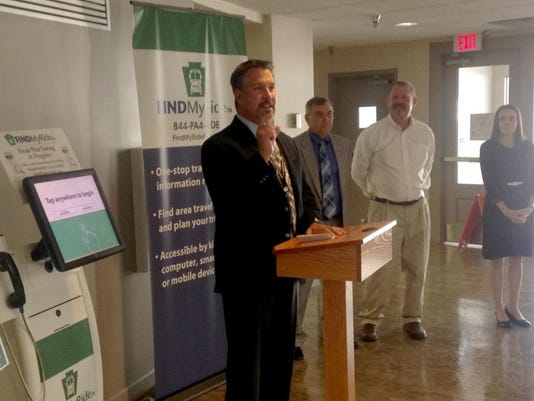 Rich Farr, executive director of Rabbittransit, explains the FindMyRidePA program at the York County Human Services building earlier this month. The program was expanded to six more counties -- Dauphin, Lebanon, Adams, Cumberland, Franklin and Cambria -- through $4 million in state and federal grant money.
