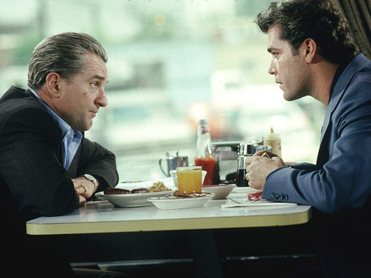 "Robert De Niro (left) with Ray Liotta in ""Goodfellas."""
