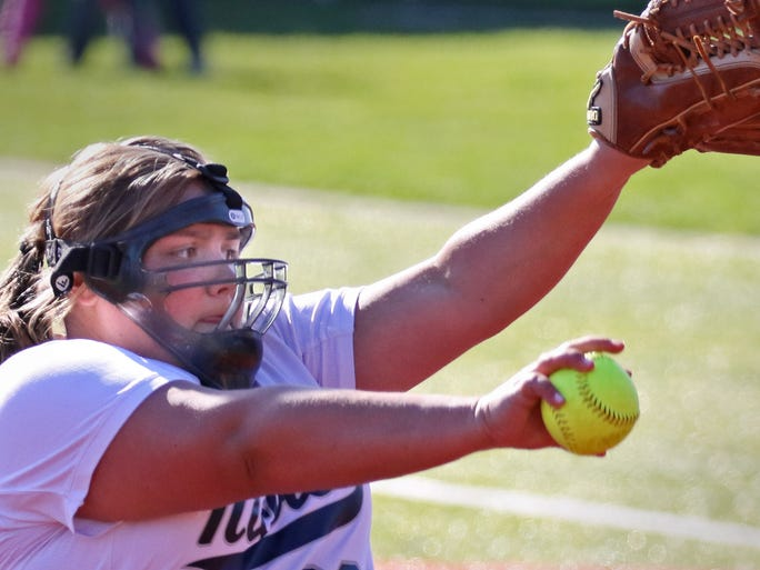 Nicolet's Maddie Steffes pitches at Whitefish Bay on May 5.
