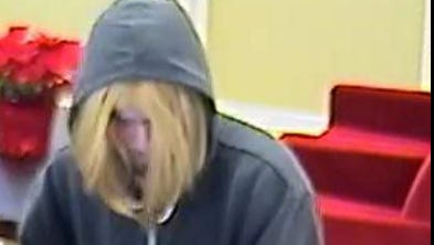 The Monroe County Sheriff's Office released images of the suspect wanted in a Pittsford bank robbery on Jan. 9.