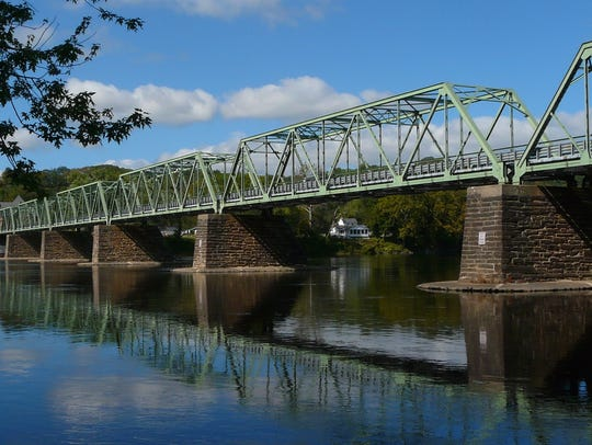 Spanning the Delaware River, the Frenchtown bridge