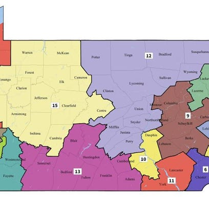 Supreme Court of Pa. released its map of new congressional