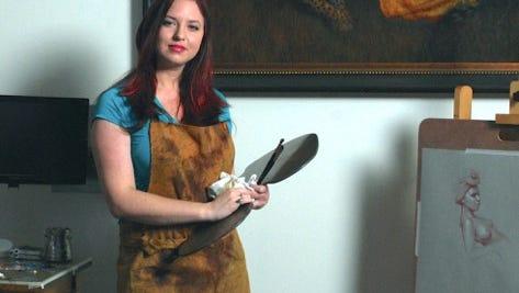 Brianna Lee's artwork is featured through September at Arts Visalia.