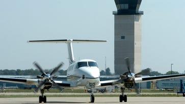 Plane skids on W.K. Kellogg Airport runway after landing gear failure