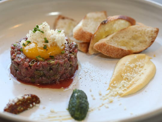 The Beef Tartare at Liberty Street Bistro in Newburgh
