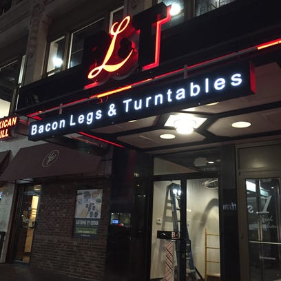 The 147-seat Bacon Legs & Turntables, or BL&T, is at