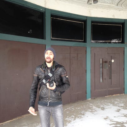 Seph Lawless outside the Variety Theater in Ohio City.