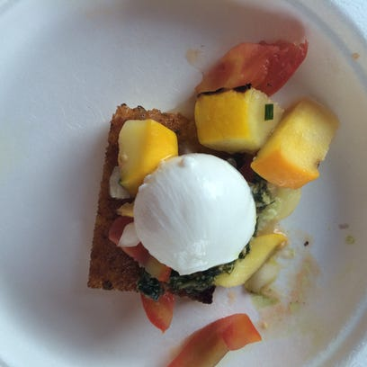 Wake Robin served a pan-seared polenta topped with