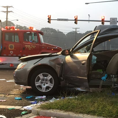 A Tinton falls man driving this Altima was killed after