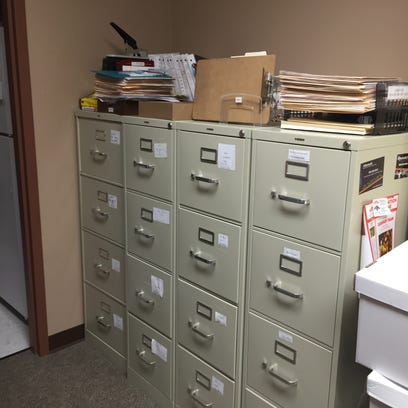 The Bossier Parish Coroner's Office stores paper files