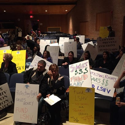 Supporters of Legal Services of the Hudson Valley display