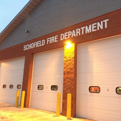 The Schofield Fire Department at dusk on Monday, January