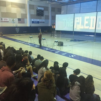 Students at Shadow Hills High School attended an anti-bullying