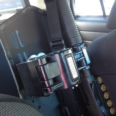 A suspect or suspects ripped a gun lock mechanism holding