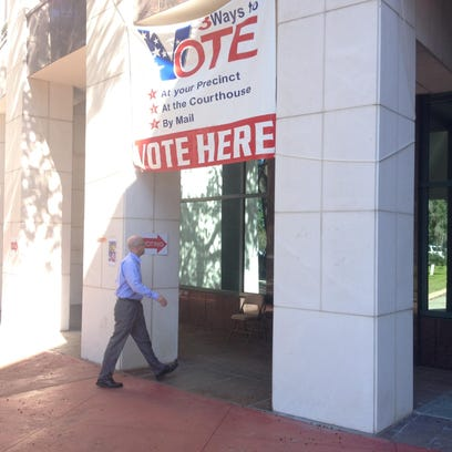 The Leon County Courthouse holds early voting every
