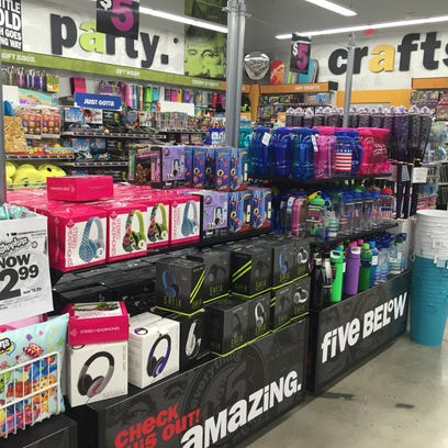 Five Below sells headphones, phone cases and other