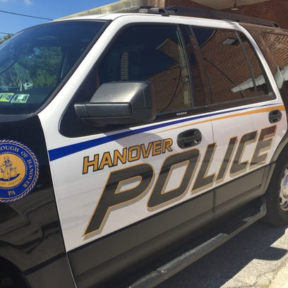 Hanover Borough Police Department cruiser parked behind