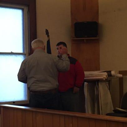 James Hughes Jr. is sworn in by Kirkersville Mayor
